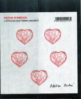 Bloc Feuillets Luxe ** F648 (Patch D'amour)  Autoadésif