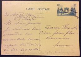 """VP81 Entier Postal Commémoratif Défilé De La Victoire Obl. """"LE RECEVEUR DES POSTES ET TÉLÉGRAPHES"""""""
