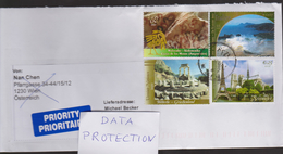 B 55) Vereinte Nationen Wien: Brief Mit Welterbe In Argentinien, Äolische Inseln-Italien, Delphi, Paris