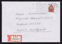 BRD - R-Brief, Einschreiben Mit EF MiNr. 1623 O / Used, 33142 BÜREN 1 (4)