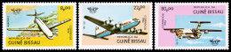 Guinea Bissau, 1984, International Civil Aviation Organization, ICAO, 40th Anniv, United Nations, MNH, Michel 754-756