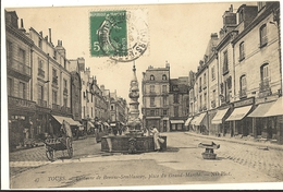 TOURS -  Fontaine De Beaune-Semblançay- Place Du Grand-Marché   29
