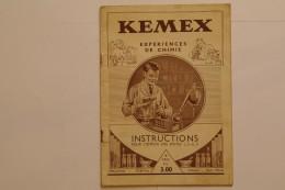 Manuel D'instructions KEMEX Pour L'emploi Des Boîtes 1, 2 Et 3 - Meccano