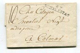Frankreich / 1817 / Vorphila-Brief L2-Stempel 67 SCHELESTADT Nach Colmar (67612)