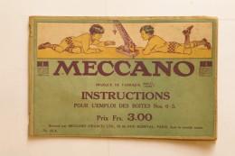 Manuel D´instructions MECCANO Pour L´emploi De La Boîte N°0-3 - Meccano