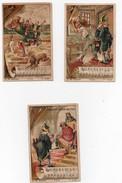 CHROMO Chocolat Guérin-Boutron Le Bon Roi Dagobert Lapin Vieilles Chansons Illustrées (3 Chromos) - Guérin-Boutron