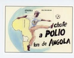 Angola-1998-Vaccination Contre La Poliomiélite-carte D´afrique,shoot Dans Un Ballon-YT B47***MNH