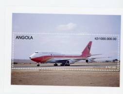Angola-1999-Avions, B747-B737-YT B55+56***MNH