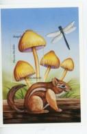 Angola-1999-Champignons, Libellule,rongeur-YT B63***MNH***MNH