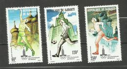 Djibouti POSTE AERIENNE N°135 à 137 Neufs** Cote 7.80 Euros - Yibuti (1977-...)