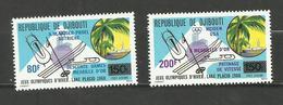 Djibouti POSTE AERIENNE N°141, 142 Neufs** Cote 5.70 Euros