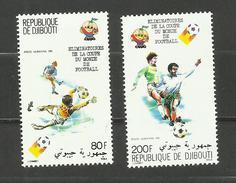 Djibouti POSTE AERIENNE N°147, 148 Neufs** Cote 5.70 Euros