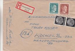 Allemagne - Empire - Lettre Recommandée De 1944 - Oblitération Saarbrücken - Expédié Vers Kochel - Hitler