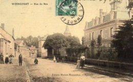 """80 WOINCOURT ( Somme )   Rue Du Bos .      """" état """"   ( Couleur Glacée ) - Unclassified"""