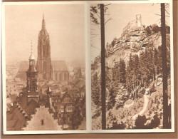 P254 Bild 89 + 90 OHNE WERTSTEMPEL.W.H.W. Lotterie 1934/35. Riesengebirge + Frankfurt
