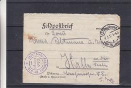 Allemagne - Empire - Lettre Militaire De 1917 - Feldpost - Oblit KDFeld Postexped - Cachet Violet Infanterie Regiment