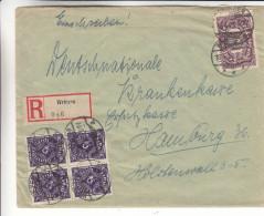 Allemagne - Empire - Lettre Recommandée De 1923 ° - Oblitération Wriezen - Expédié Vers Hamburg