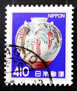 JARRE EN PORCELAINE 1980 - OBLITERE - YT 1440 - 1926-89 Emperor Hirohito (Showa Era)