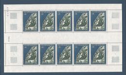 ANDORRE FRANCAIS - FEUILLE TIMBRES NEUFS** N° 223 - 1972 - RETABLE DE LA CHAPELLE DE ST JEAN CASSELLES - VOIR SCAN