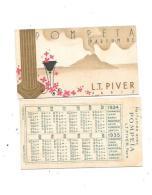 9422 -  Carte Parfumée, POMPEIA De LT PIVER , PARIS, Calendrier 1934 Au Verso - Cartes Parfumées