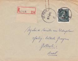 - 10 % : N° 724 T :  Lettre RECOMMANDE De IEPER - 1946 -10%