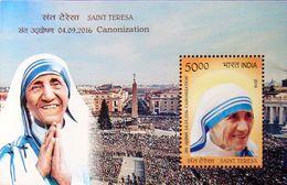 INDIA 2016 Mother Teresa Canonization To Saint M/S 10nos. MINIATURE SHEETS MNH