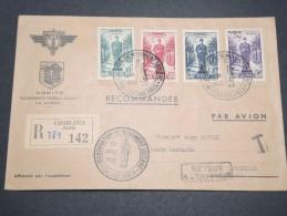 FRANCE / MAROC - Enveloppe En Recommandé Du Comité Général Leclerc Pour Marseille En 1951 - A Voir - L 4903