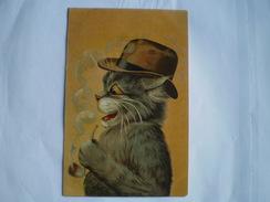 Dressed Cat - Chat // Style Louis Wain - Thiele // 1905 Ed K.F.Paris France 586C - Illustrateurs & Photographes
