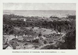 1925 - Iconographie Documentaire - Neauphle-le-Château (Yvelines) - Panorama - FRANCO DE PORT - Vieux Papiers