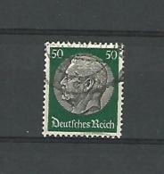 ALLEMAGNE ANNEE 1933 / 36 FILIGRANE E N° 496 ( 50 P VERT ET NOIR  DEUTFCHES REICH )OBLITERE SANS GOMME  2 SCANNE