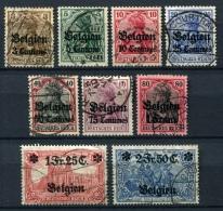 98704) DEUT.BESETZUNG Belgien # 1-9 Gestempelt Aus 1914, 45.- €