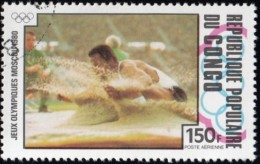 CONGO, PEOPLE'S REPUBLIC - Scott # C272 Moscow '80 Olympic Games / Used Stamp - Summer 1980: Moscow