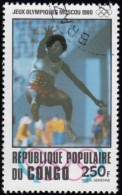 CONGO, PEOPLE'S REPUBLIC - Scott # C273 Moscow '80 Olympic Games / Used Stamp - Summer 1980: Moscow