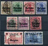 98708) DEUT.BESETZUNG Belgien # 1-9 Gestempelt Aus 1914, 45.- €