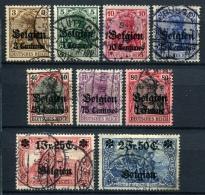 98710) DEUT.BESETZUNG Belgien # 1-9 Gestempelt Aus 1914, 45.- €