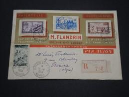 FRANCE/ MAROC - En. Commerciale Illustrée Philatélie En Recommandé Pour Bouira En 1954, Affr. Plaisant - A Voir - L 4909