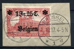 98713) DEUT.BESETZUNG Belgien # 8 Gestempelt Aus 1914, 20.- €
