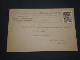 FRANCE/ MAROC - Enveloppe Du Gouvernement De Rabat Pour Casablanca En 1941 - A Voir - L 4910