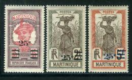 MARTINIQUE ( POSTE ) : Y&T N°  111/119  TIMBRES  NEUFS  AVEC  TRACE  DE  CHARNIERE , A  VOIR .