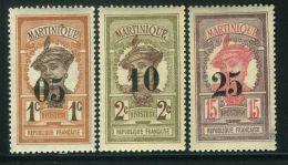 MARTINIQUE ( POSTE ) : Y&T N°  83/85  TIMBRES  NEUFS  SANS  TRACE  DE  CHARNIERE , A  VOIR .