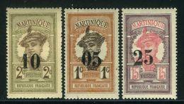 MARTINIQUE ( POSTE ) : Y&T N°  83/85  TIMBRES  NEUFS  AVEC  TRACE  DE  CHARNIERE , A  VOIR .