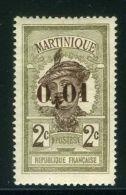 MARTINIQUE ( POSTE ) : Y&T N°   105  TIMBRE  NEUF  AVEC  TRACE  DE  CHARNIERE , A  VOIR .