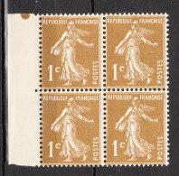 FRANCE YT  277B ** Bloc De 4 - 1906-38 Semeuse Camée