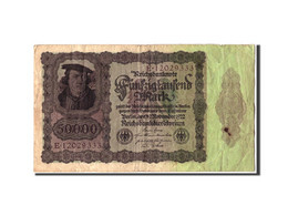 Allemagne, 50,000 Mark, 1922, KM:80, 1922-11-19, B - [ 3] 1918-1933 : Weimar Republic