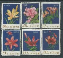 Corée Du Nord N° 1122 / 27 XX  Flore : Fleurs De Montagne, Les 6 Valeurs Sans Charnière, TB