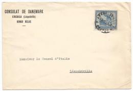 CONGO Nice Cover 1F Single Franking INTERIOR Mail From DANISH DANEMARK To ITALIA ITALIE Embassy Consulat