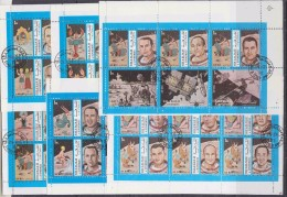 Sharjah 1972 Space Apollo 9/10 Fairy Tales 6 Sheetlets Used Cto (F5855) - Asia