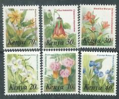 Kenya N° 241 / 55 XX  Flore : Fleurs : Série Courante, Les 15 Valeurs Sans Charnière, TB