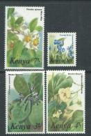 Kenya N° 343 + 345 / 47 XX  Flore : Fleurs : Partie De Série Courante, Les 4 Valeurs Sans Charnière, TB