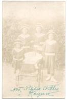 Nos Petites Filles à Royan 1912 écrite TB (photo Un Peu Pâle) Poussette Landeau - Royan